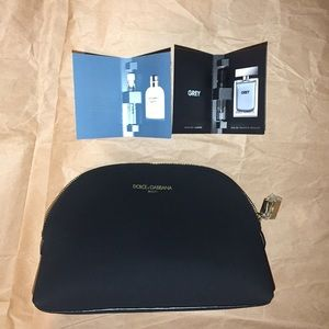 Dolce & gabbana cosmetic bag and samples